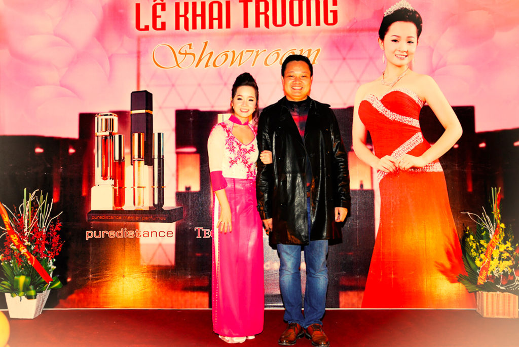 Puredistance exclusive VIP event in a perfumery in Vietnam