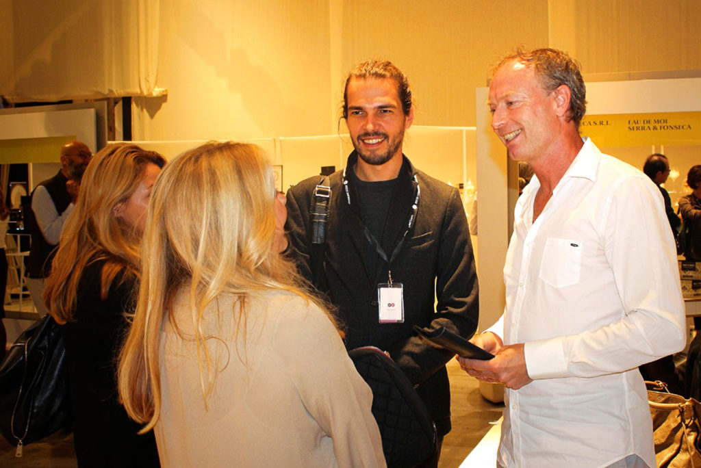 Puredistance Founder Jan Ewoud Vos and Ivo Parac at Pitti Fragranze in Florence