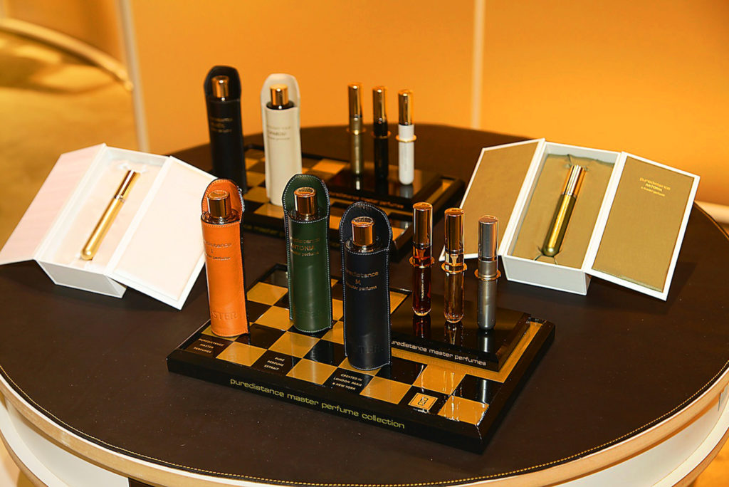 luxurious and exclusive Puredistance Master Perfume Collection display at Pitti Fragranze