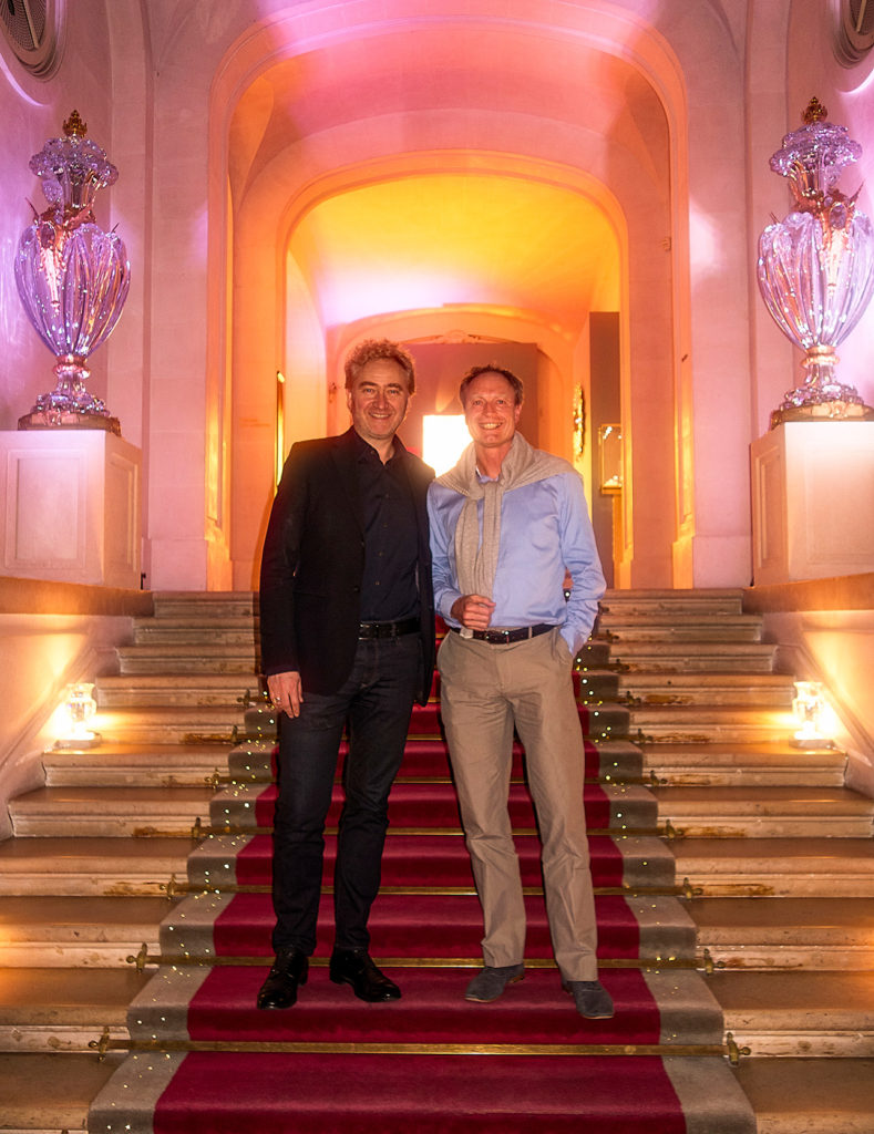 Puredistance founder Jan Ewoud Vos and Perfumer Antoine Lie in Paris