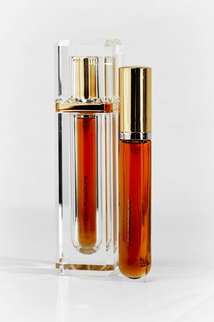Puredistance 1 Perfume inside a limited edition Crystal Perfume Column