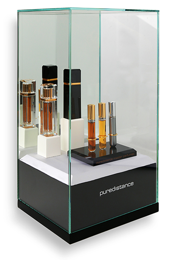 Puredistance Master Perfume Collection Display an inhouse designed accessory