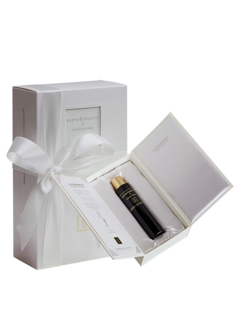 puredistance 1 perfume in white giftbox with hand-tied ribbon