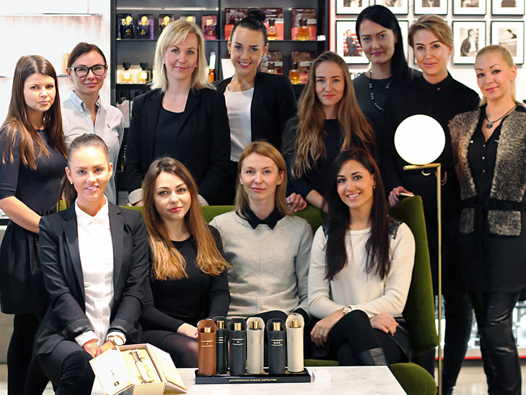 nele tammiste of puredistance in perfume boutique vilnius, lithuania