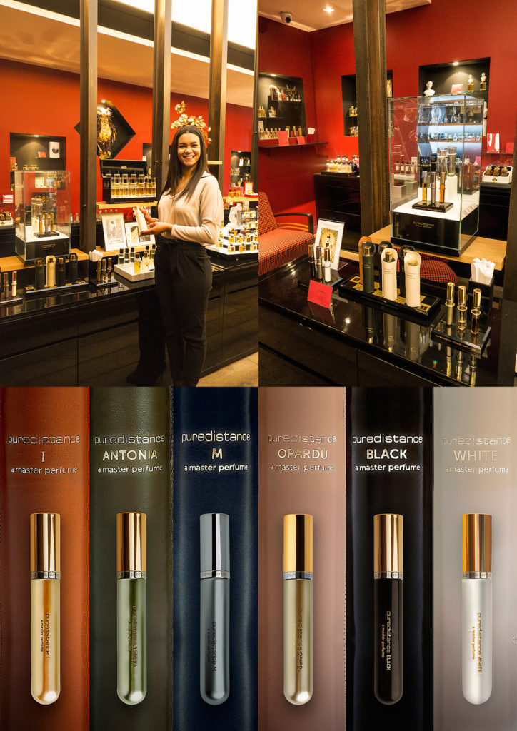 Puredistance Master Perfume Collection on display at Jovoy in Paris