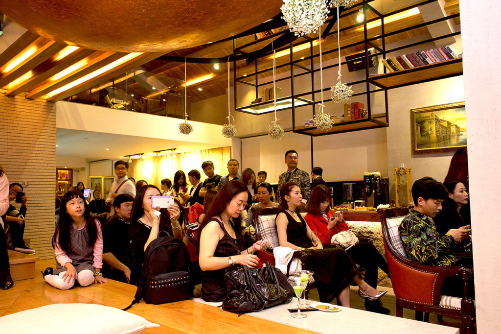 puredistance customers attending a perfume event in kunming in china