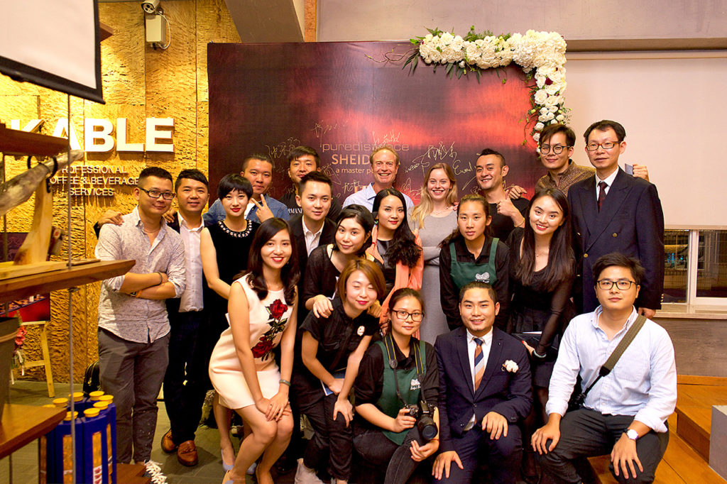 organisers puredistance perfume event in kunming in china