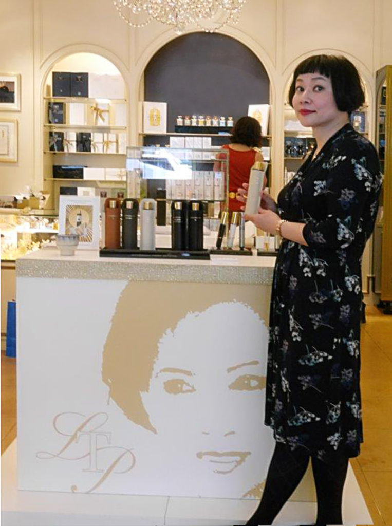 Japanese perfume blogger Sachi at Lianne Tio in Rotterdam, the only perfumery in the Netherlands who is authorised to sell the Puredistance brand