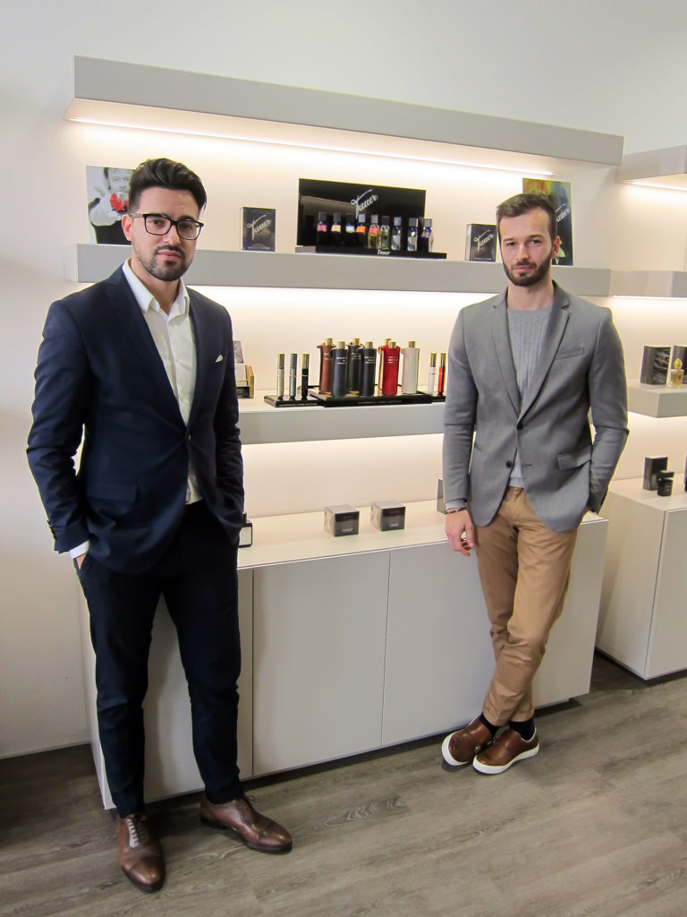 Ricardo & André of EMBASSY Niche Perfumery in Lisbon