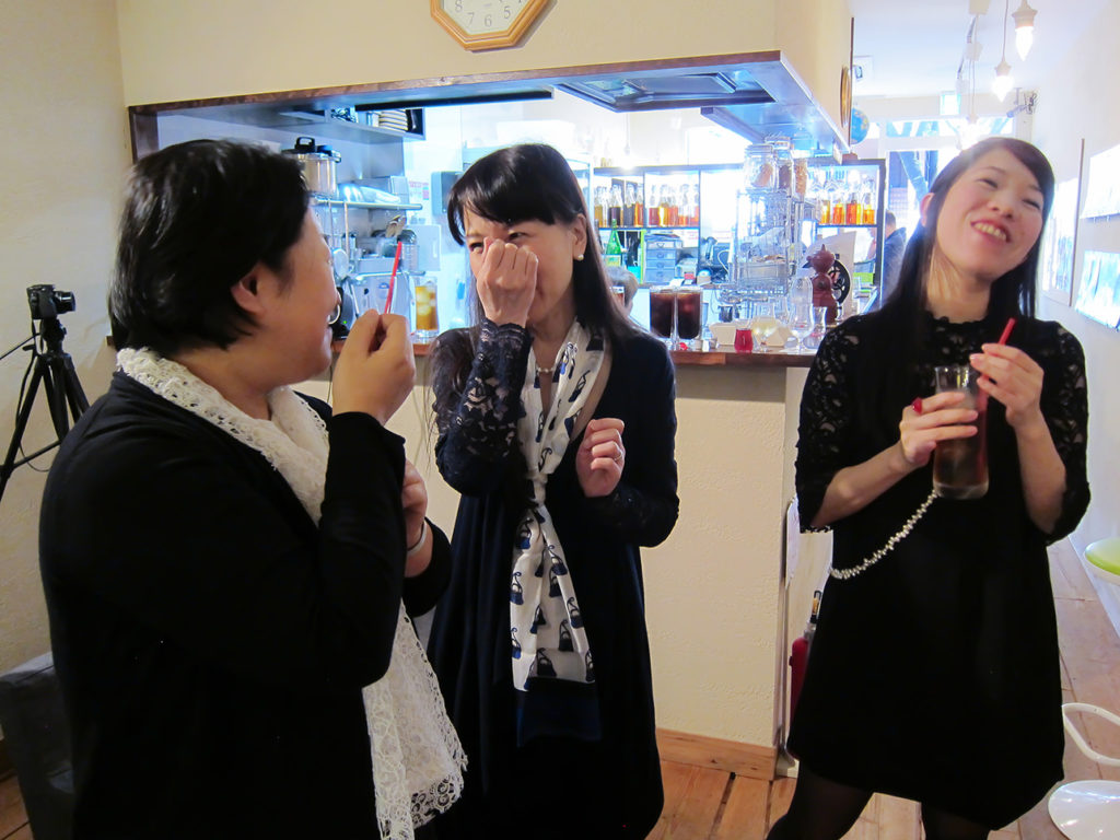 Lovely guests enjoying Puredistance perfume