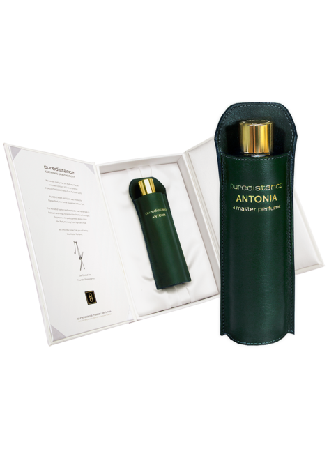 puredistance antonia perfume 100ml in leather holder