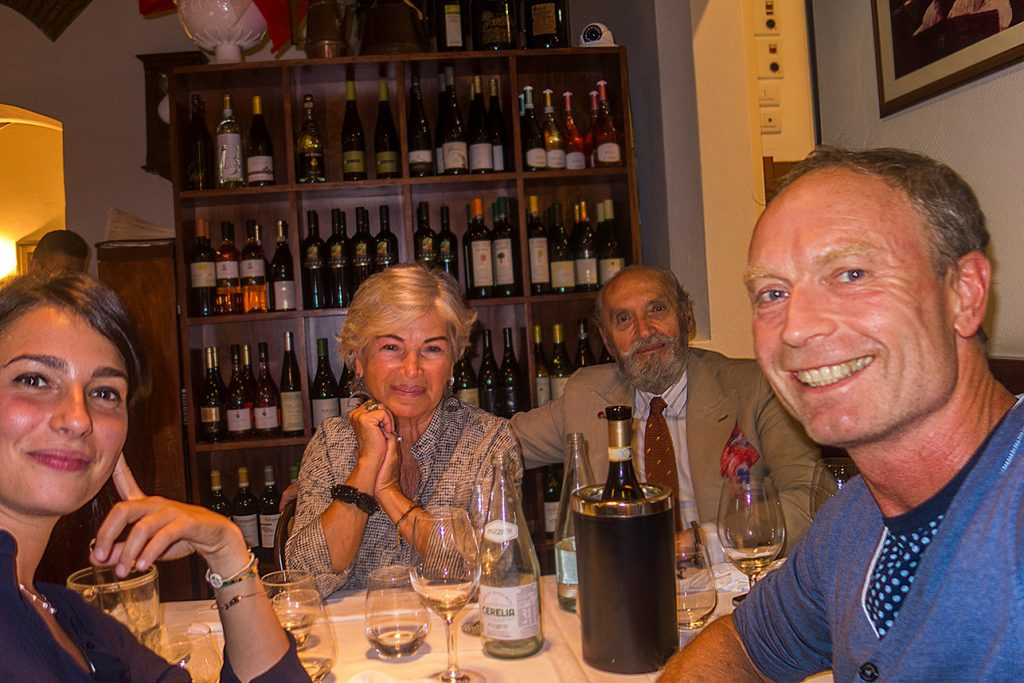 Puredistance Founder Jan Ewoud Vos together with Giovanni, Lia and Virginia of Sacro Cuore Bologna