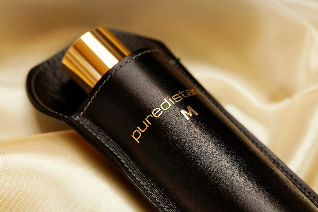 100ml Puredistance M Perfume in its leather holder