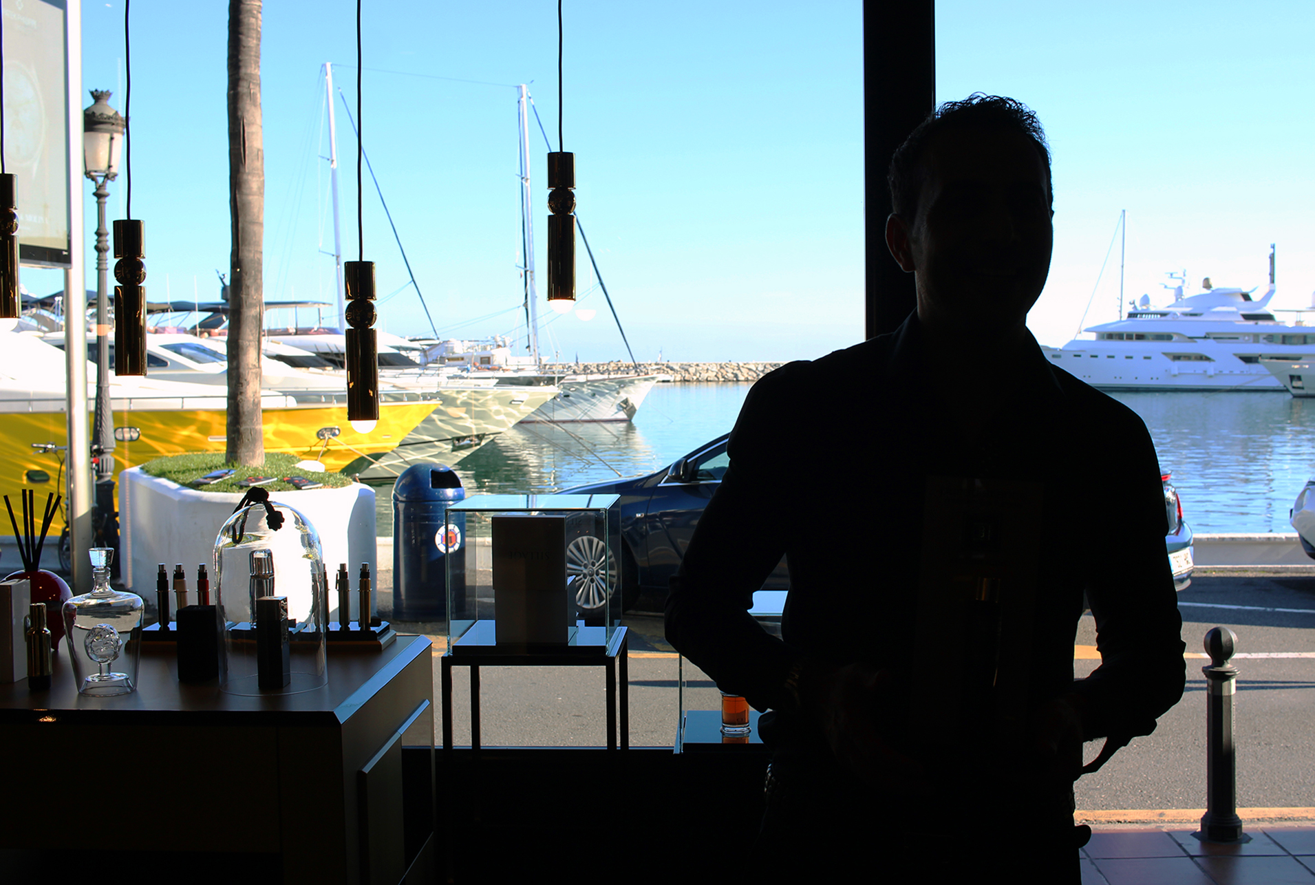 The Port of Puerto Banus Marina, view from Bar a Parfums