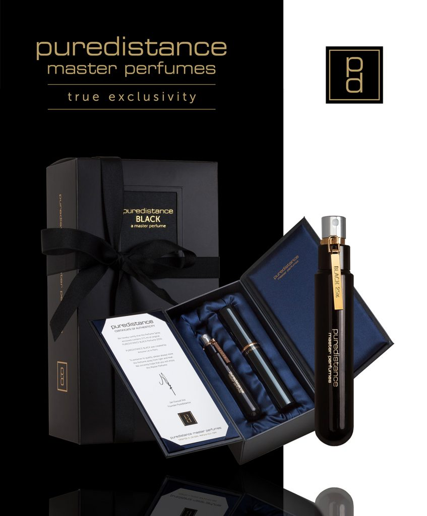 The new 17.5ml Giftbox of Puredistance BLACK